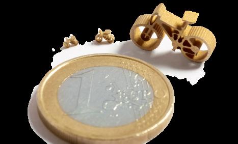 Mini Velo von Microwaterjet geschnitten mit einem 0.17 mm feinen Wasserstrahl.