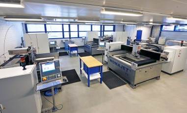 Inside the company Microwaterjet AG in Aarwangen.